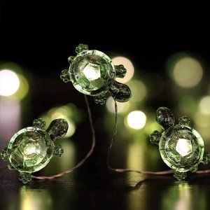 UO 13 Ft 40 LED Green Turtle String Fairy Lights